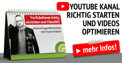 YouTube Kanal einrichten Video SEO Workshop